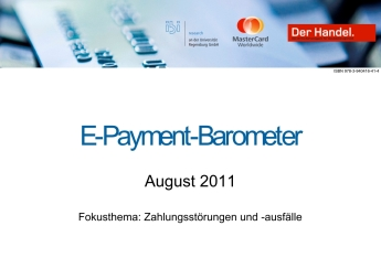 Studie:  E-Payment-Barometer - August 2011